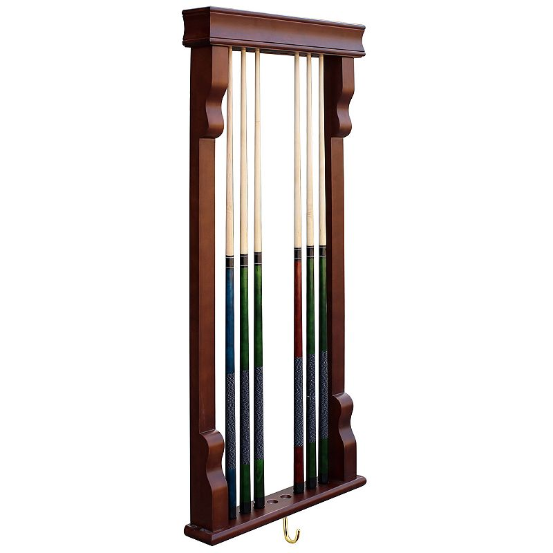 Hathaway Vintage Wall Billiard Pool Cue Rack
