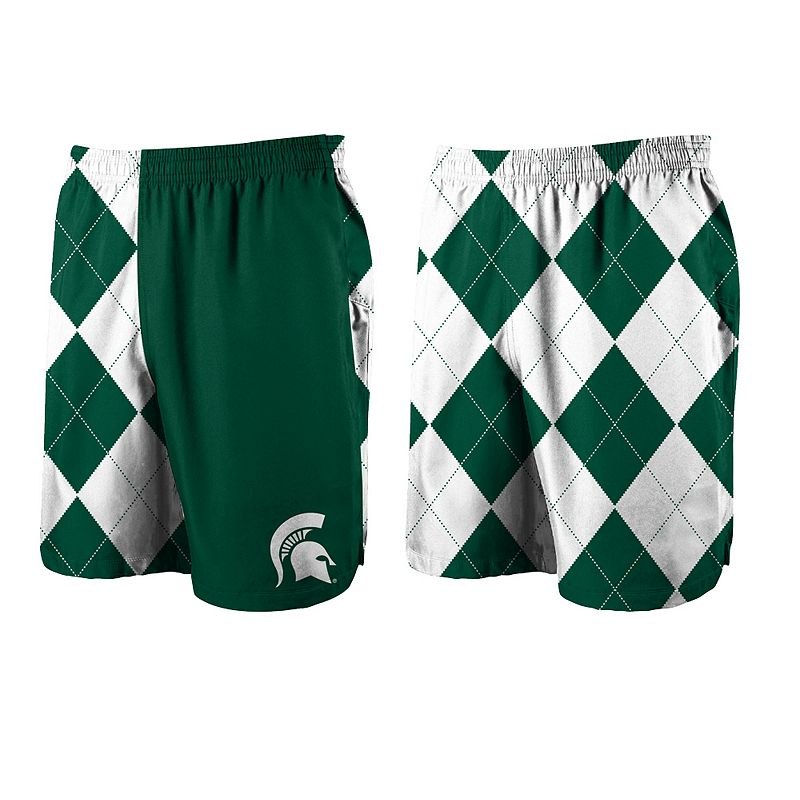 Men's Loudmouth Golf Michigan State Spartans Spirit Shorts