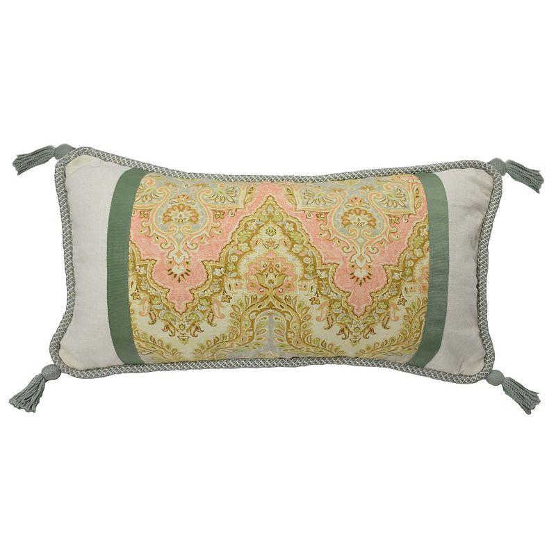 Waverly Graceful Garden Pieced Throw Pillow