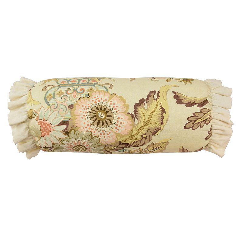 Waverly Graceful Garden Neck Roll Throw Pillow