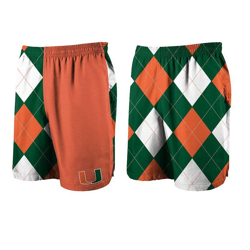 Men's Loudmouth Golf Miami Hurricanes Spirit Shorts