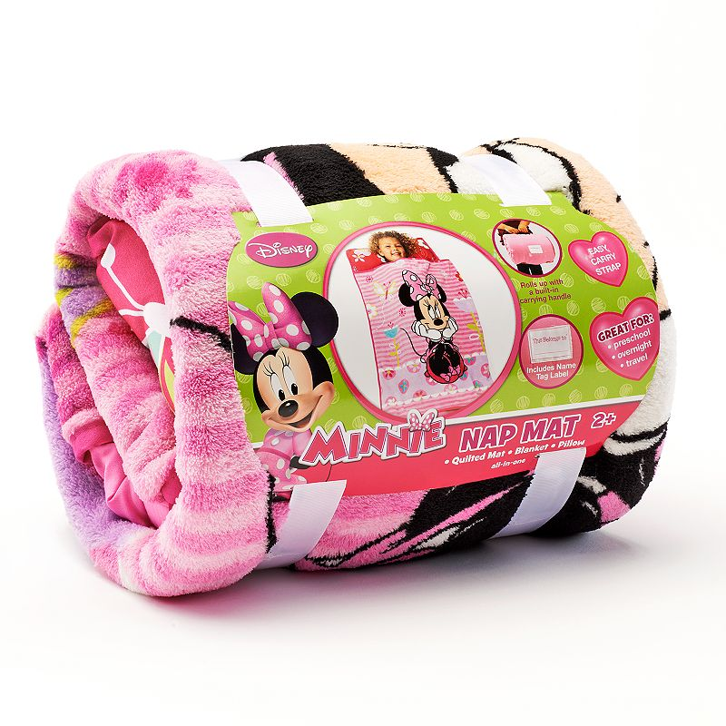 Disney's Minnie Mouse Sweet as Minnie Rolled Nap Mat and Blanket