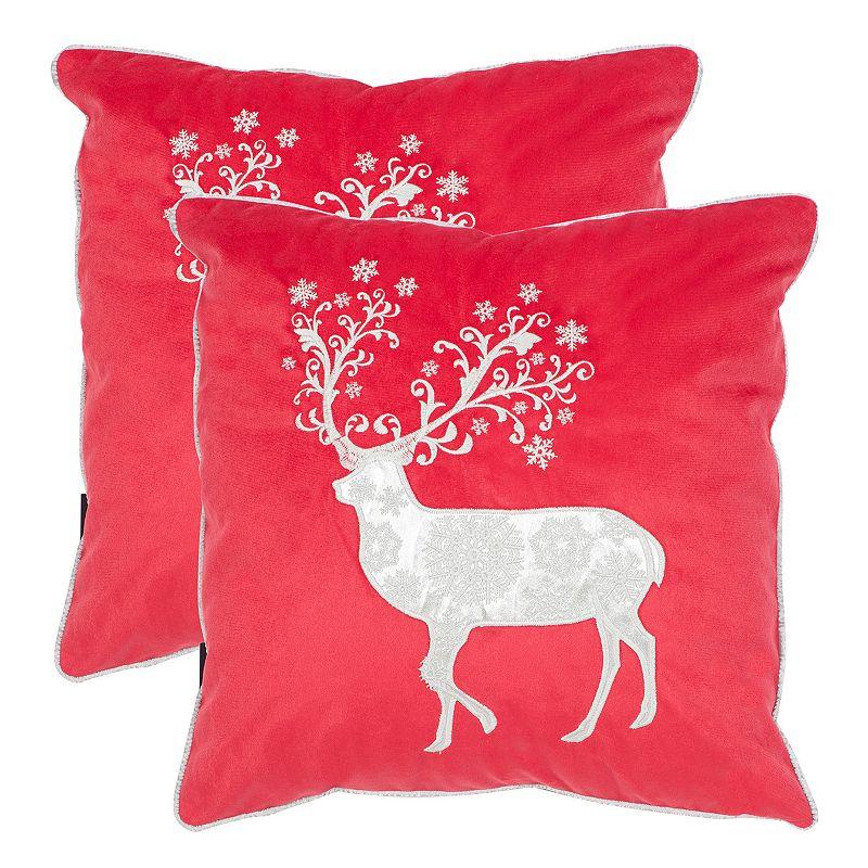 Safavieh Silver Prancer 2-piece Throw Pillow Set