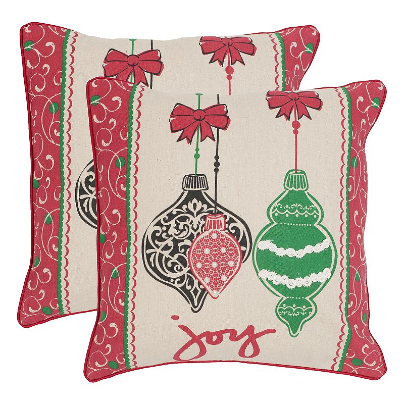 Christmas Throw Pillows From Kohls : Safavieh Keepsakes 2-piece Throw Pillow Set