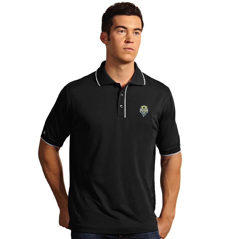 Men's Antigua Seattle Sounders Elite Desert Dry Xtra-Lite Polo