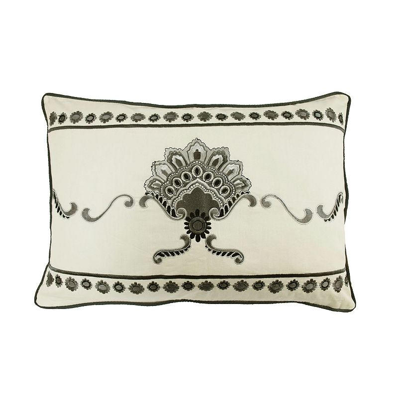 Waverly Paisley Pizzazz Embroidered Throw Pillow