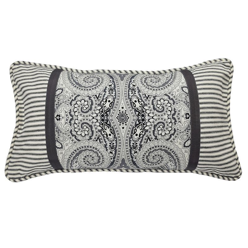 Waverly Paisley Pizzazz Pieced Throw Pillow