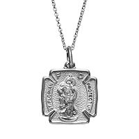 Insignia Collection Sterling Silver St. Florian Pendant Necklace