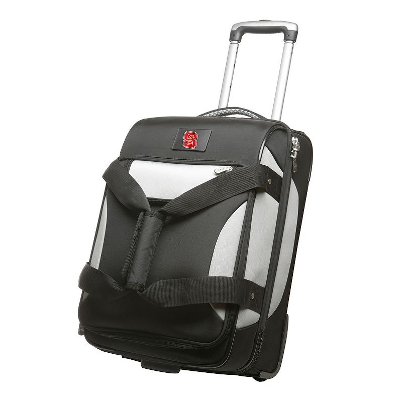 NCAA North Carolina State University 22-Inch Drop-Bottom Wheeled Carry-On
