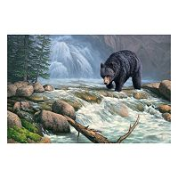 Reflective Art ''Black Bear Territory'' Canvas Wall Art