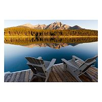 Reflective Art ''Lake Loungin'' Canvas Wall Art