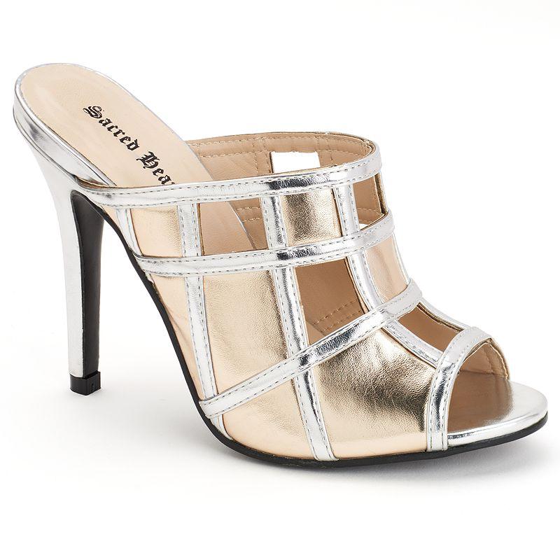 Sacred Heart Racine Women's Peep-Toe Mule Sandals