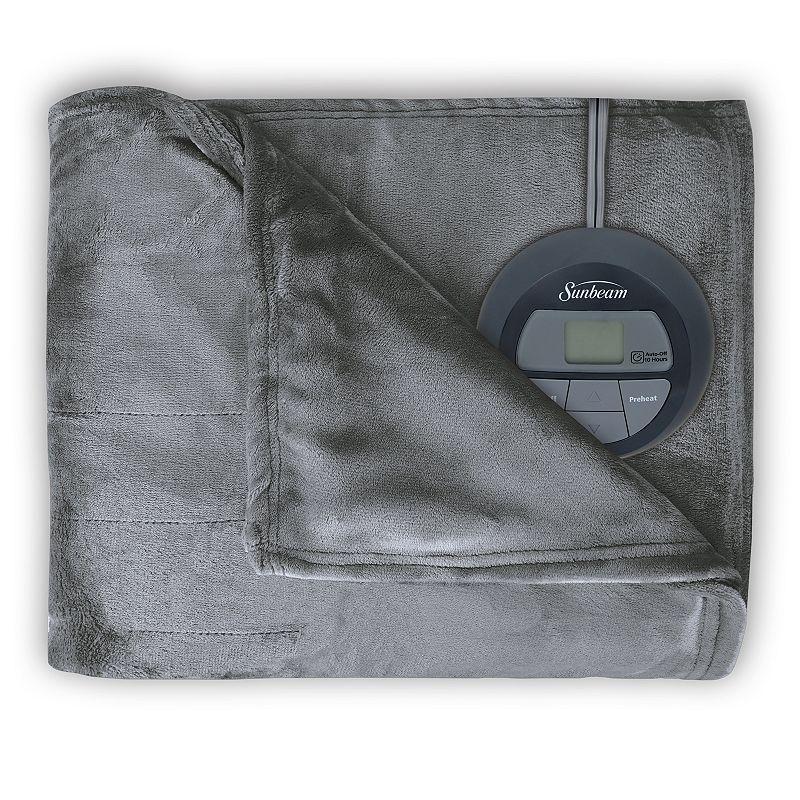 Sunbeam Slumber Rest Microplush Electric Blanket