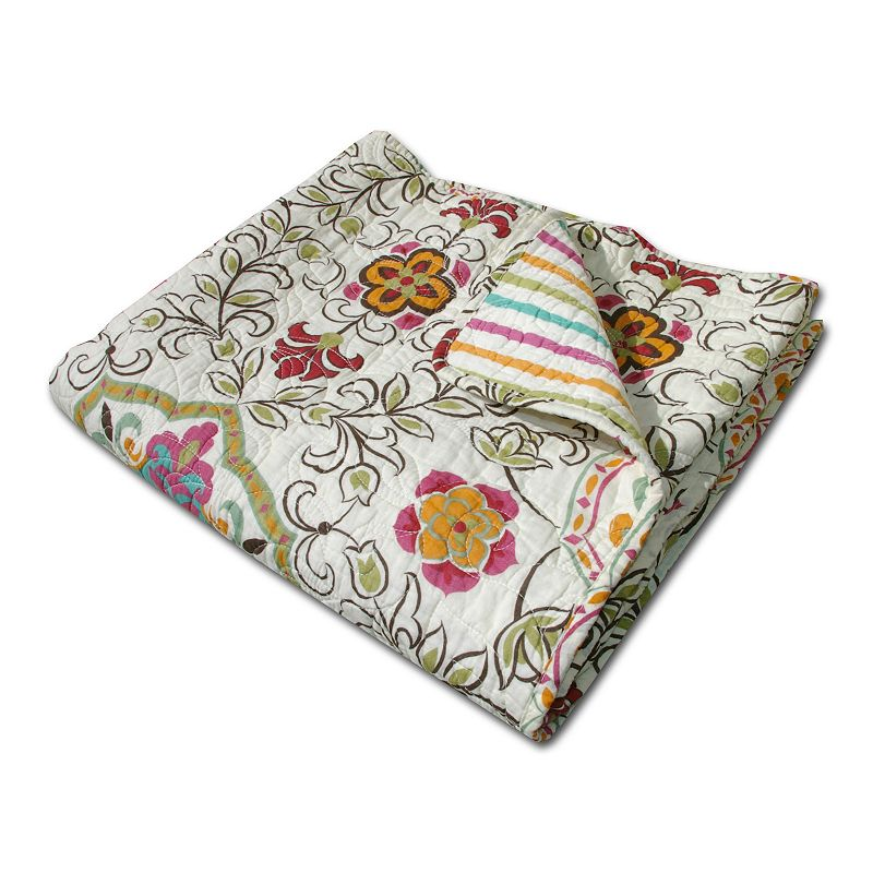 Printed Quilted Reversible Throw