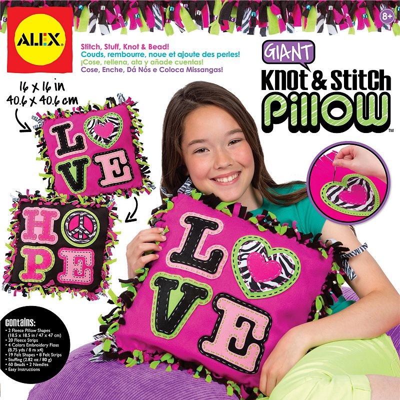 ALEX Giant Knot and Stitch Pillow