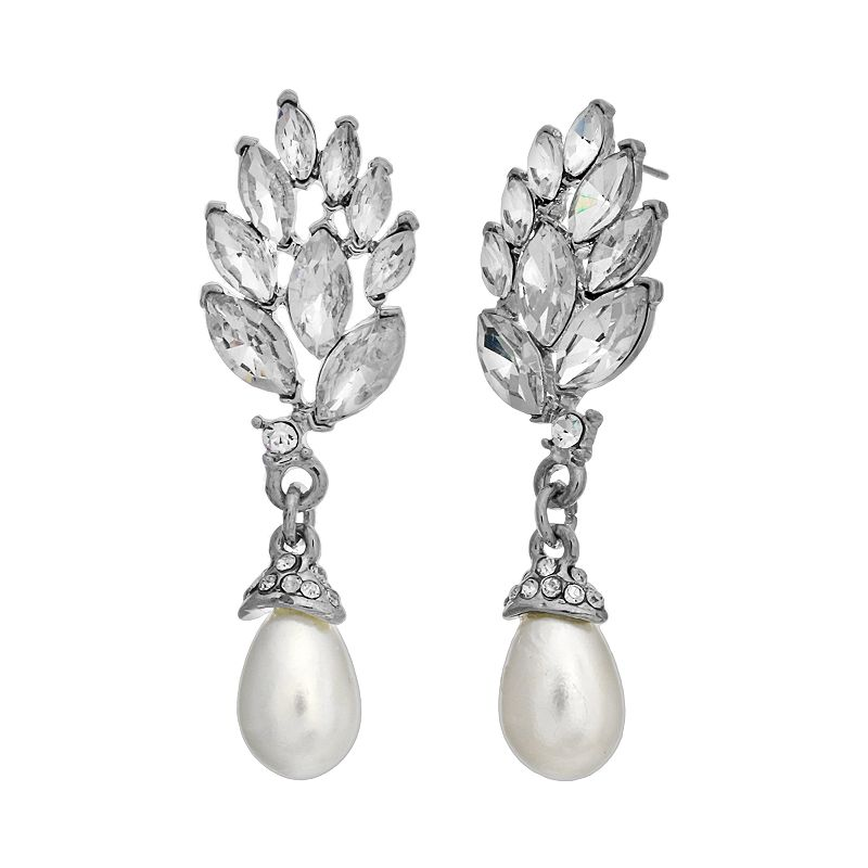 Crystal Allure Marquise Drop Earrings