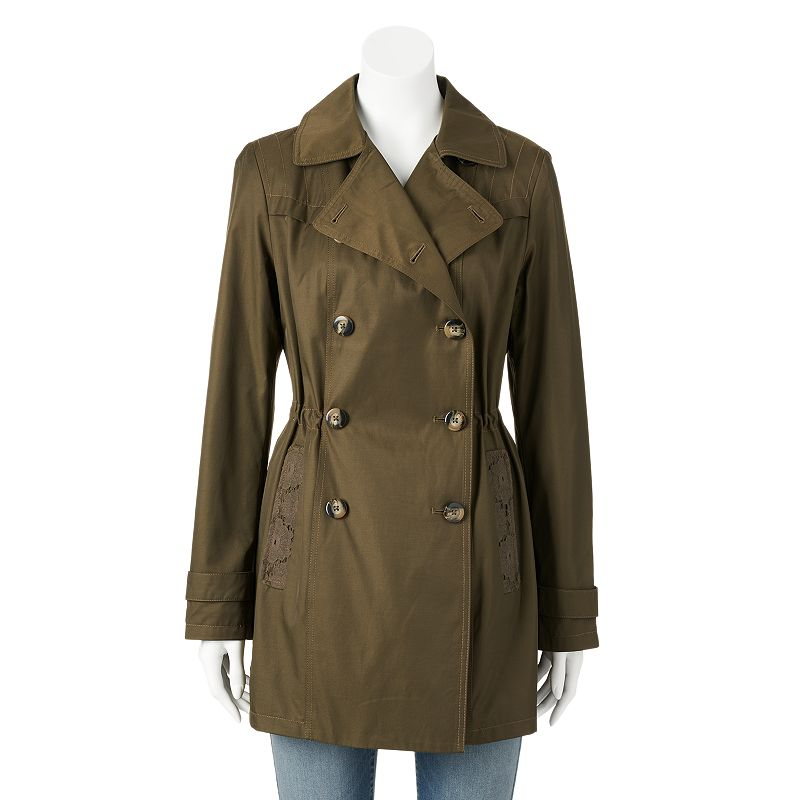 Women's Braetan Double-Breasted Anorak Trench Jacket