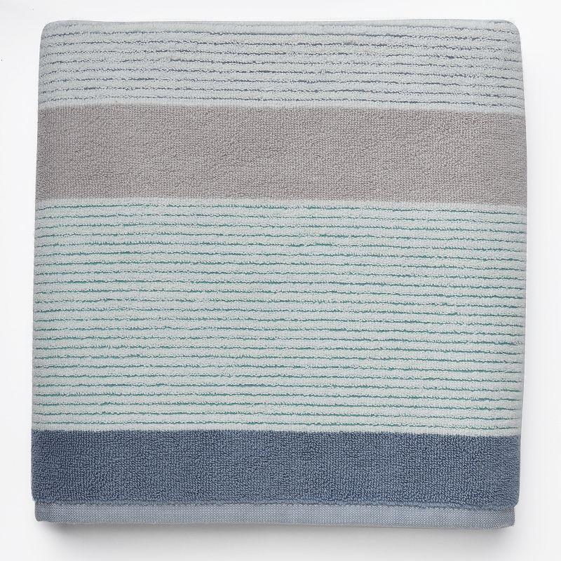 Birds & Blooms Striped Bath Towel