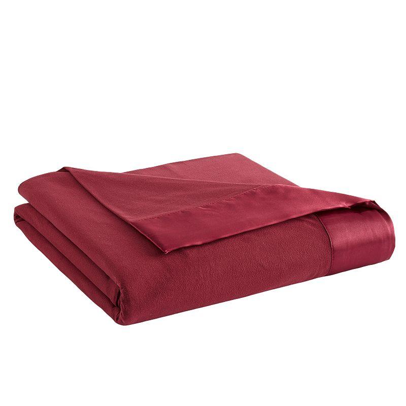 Micro Flannel All Seasons Year Round Satin Hemmed Sheet Blanket
