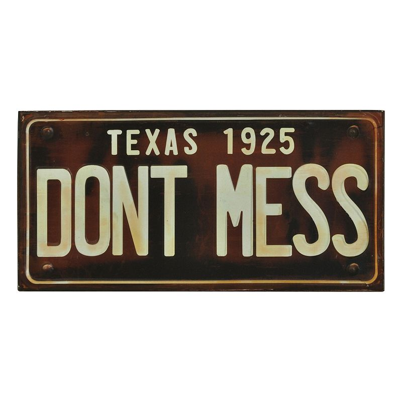Sheffield Home Don 39 T Mess License Plate Wall Decor