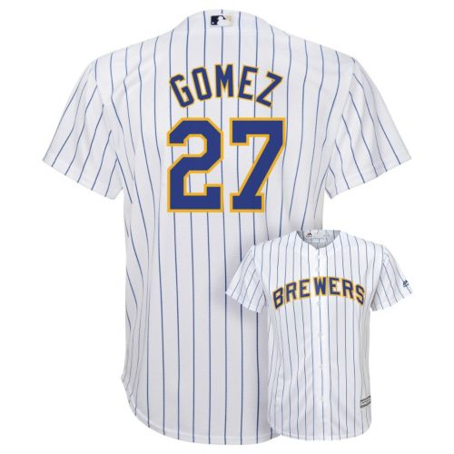Boys 8-20 Majestic Milwaukee Brewers Carlos Gomez Cool Base Replica MLB Jersey