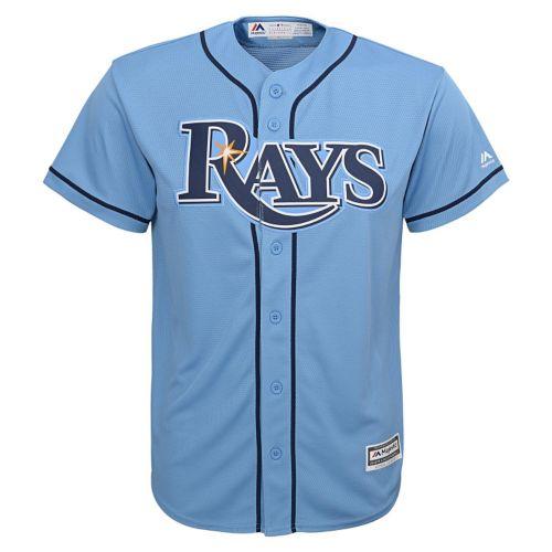 Boys 8-20 Majestic Tampa Bay Rays Replica MLB Jersey