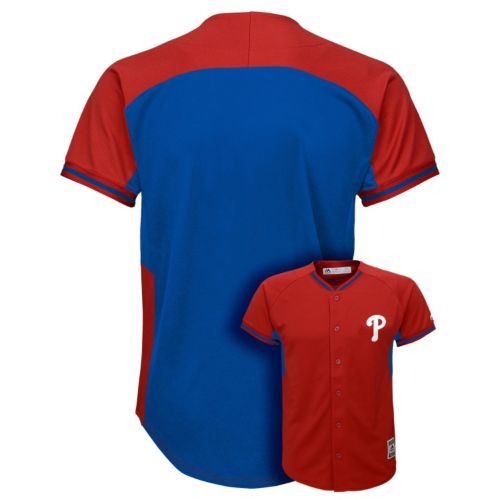 Boys 8-20 Majestic Philadelphia Phillies Fashion Batting Practice MLB Jersey