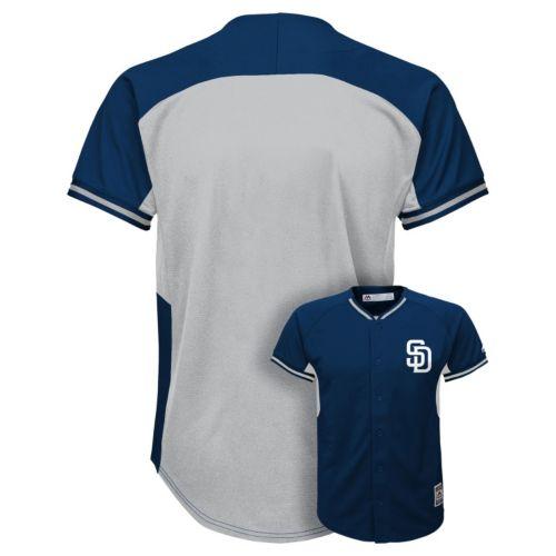 Boys 8-20 Majestic San Diego Padres Fashion Batting Practice MLB Jersey