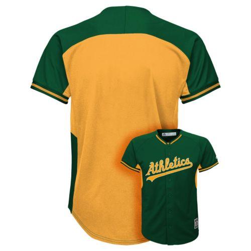 Boys 8-20 Majestic Oakland Athletics Fashion Batting Practice MLB Jersey