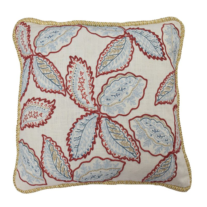 Waverly Treasure Trove Leaf Throw Pillow