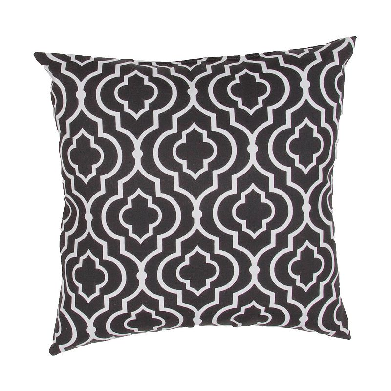 Kohls Black Decorative Pillow : Black Polyester Geometric Throw Pillow Kohl s