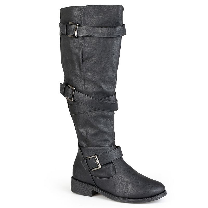 Journee Collection Jagger Womens Strappy Riding Boots