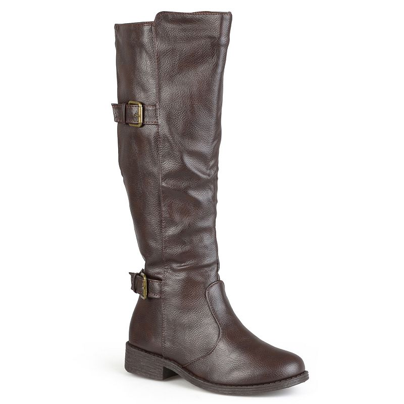 Journee Collection Jagger Womens Buckle Riding Boots