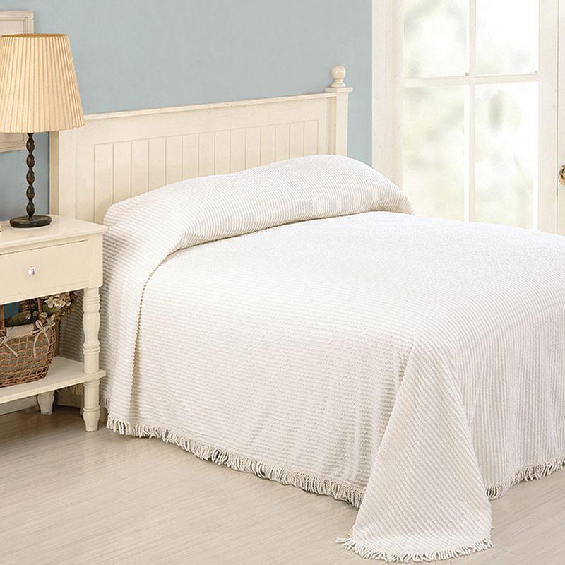 Peking Chenille Stripe Bedspread