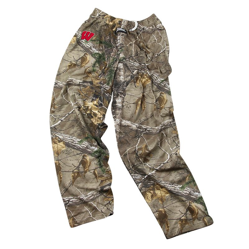 Zubaz Wisconsin Badgers Realtree Camouflage Athletic Pants - Men