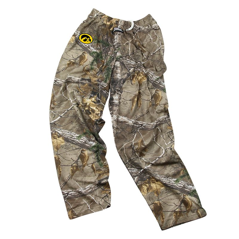 Zubaz Iowa Hawkeyes Realtree Camouflage Athletic Pants - Men