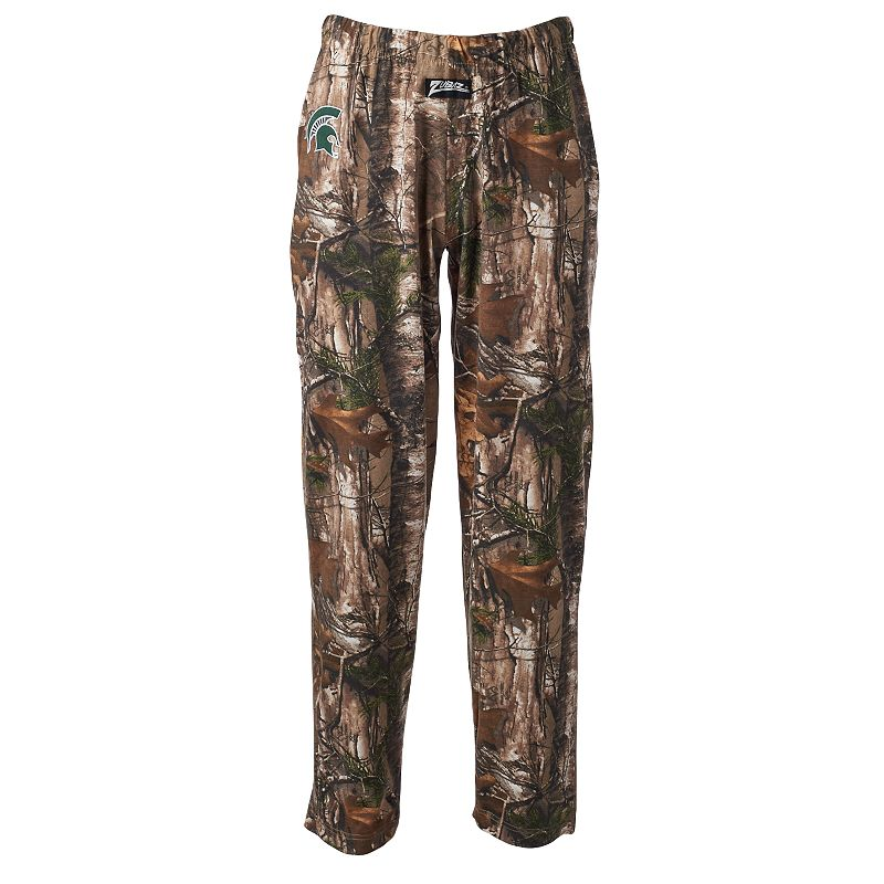 Zubaz Michigan State Spartans Realtree Camouflage Athletic Pants - Men