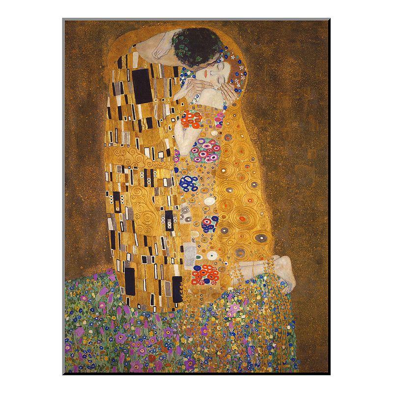 Art.com ''The Kiss'' Wood Wall Art by Gustav Klimt