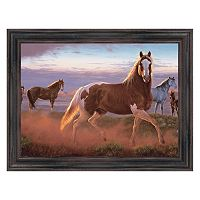 Reflective Art ''Sun Dance'' Framed Canvas Wall Art