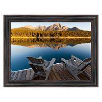 Reflective Art ''Lake Loungin'' Framed Canvas Wall Art