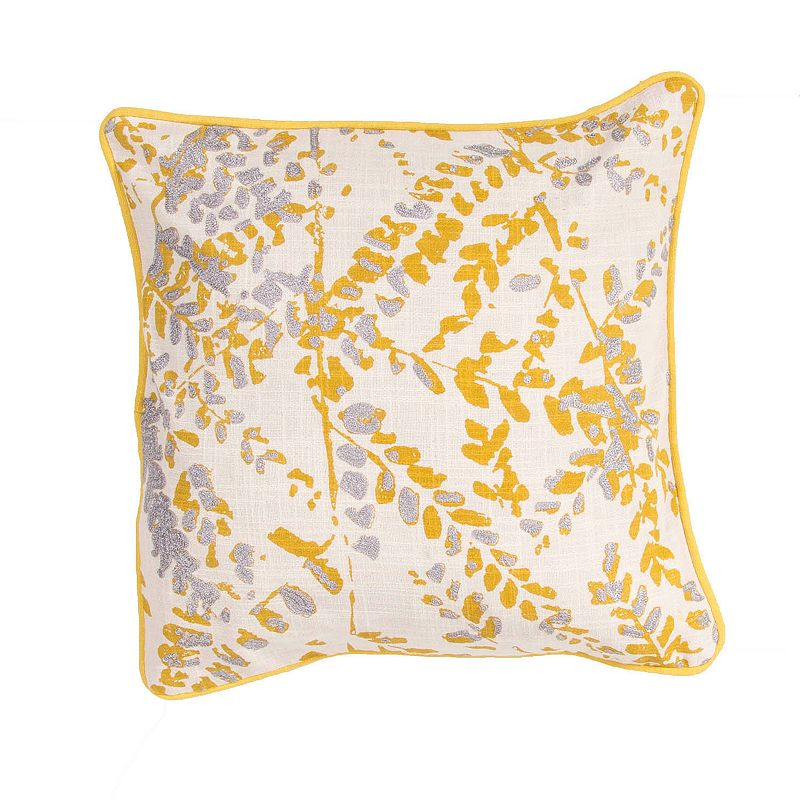 Kohls Yellow Throw Pillows : JAIPUR LEAVES THROW PILLOW