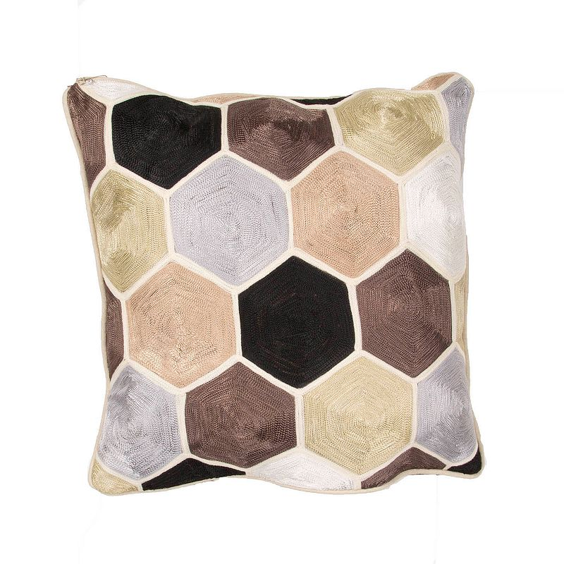 Jaipur Honeycomb Throw Pillow