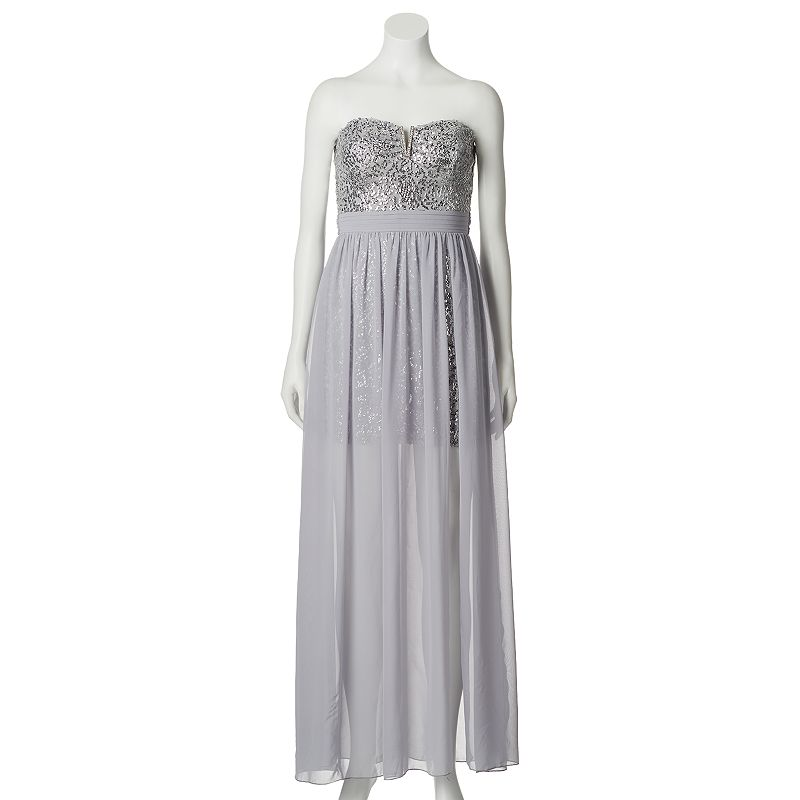 Juniors' Lily Rose Sequin Long Dress