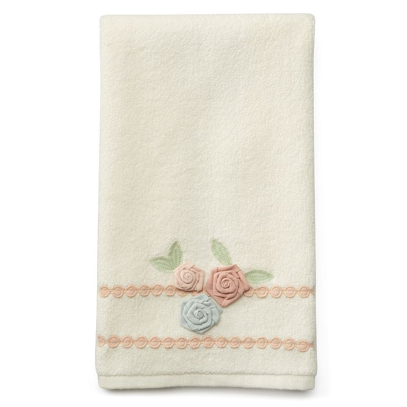 LC Lauren Conrad Floral Embellished Hand Towel
