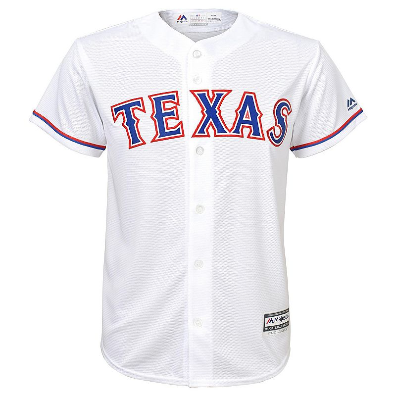Boys 8-20 Majestic Texas Rangers Home Replica MLB Jersey