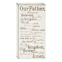 ''Lord's Prayer'' Canvas Wall Art