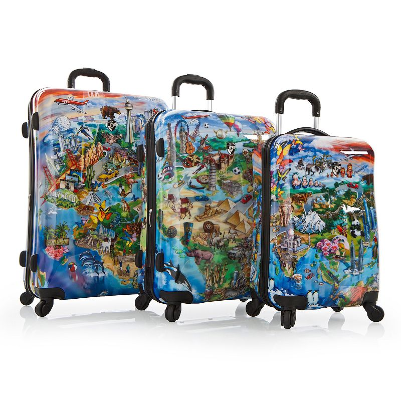 Heys It's a Small World 3-Piece Hardside Spinner Luggage Set