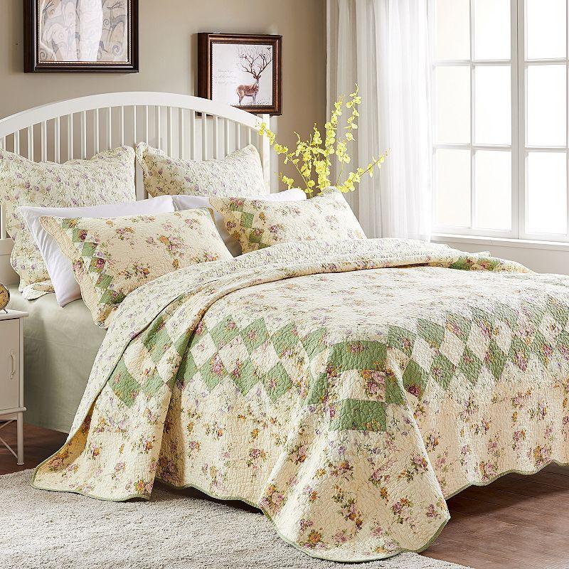 Bliss Floral Reversible Quilt Set