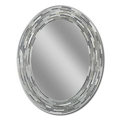 Head West Reeded Oval Wall Mirror by