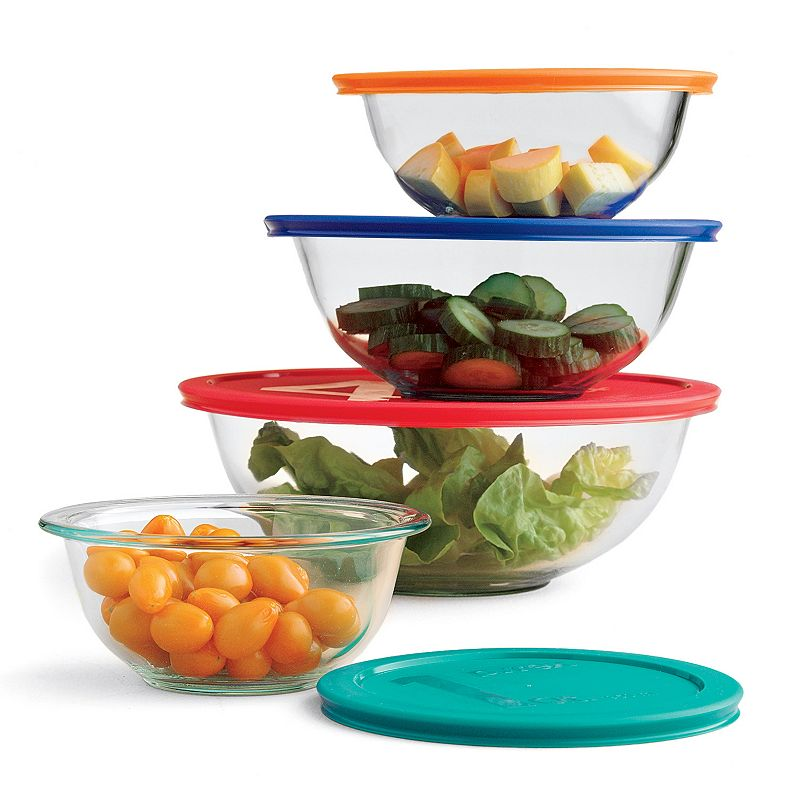 Pyrex Smart Essentials 8-pc. Storage Bowl Set